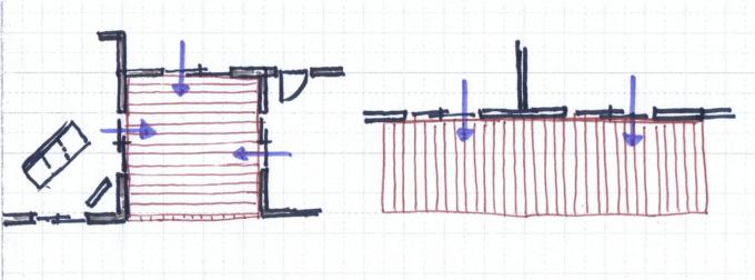 リビングの近くにウッドデッキを設置するパターン