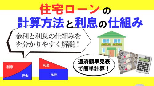 住宅ローンの計算方法は?金利と利息の仕組みを分かりやすく解説