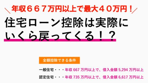 住宅ローン控除はいくら戻ってくる?年収667万円以上で最大40万円減額!