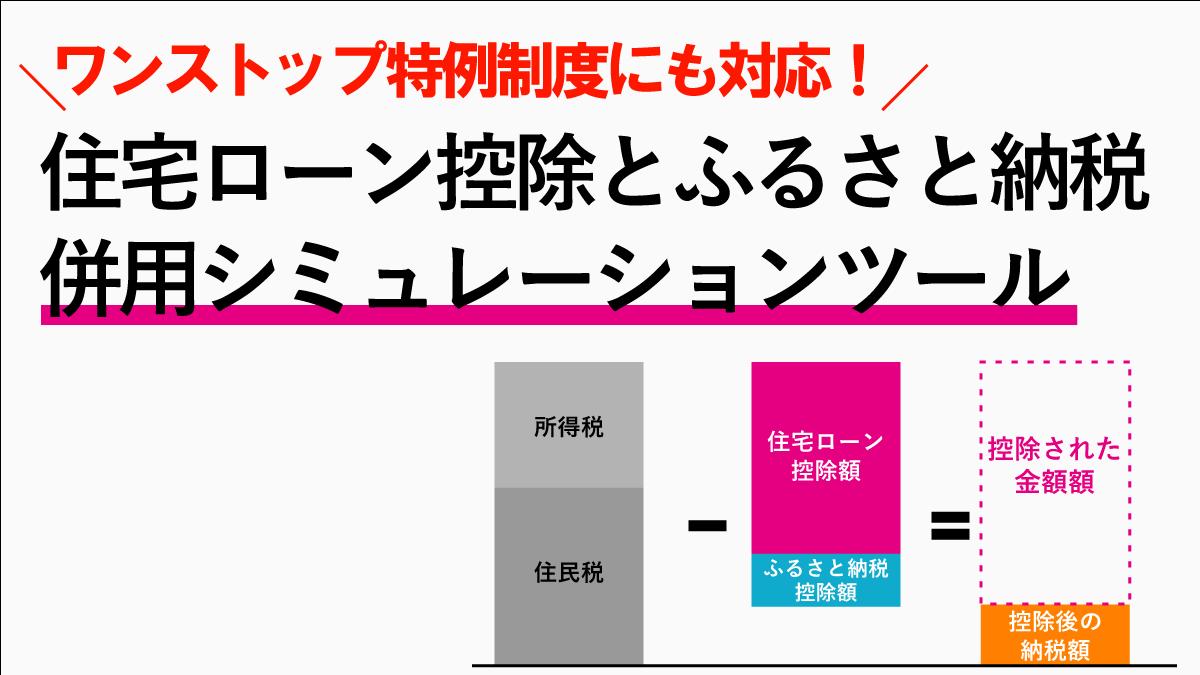 住宅ローン控除ふるさと納税併用シミュレーション計算ツール!